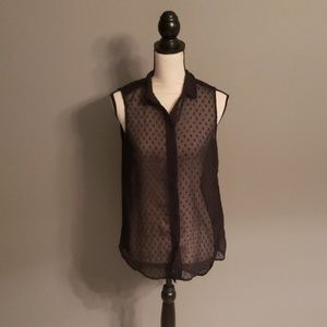 H&M Sheer Top Size 6